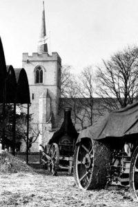 Retired Steam Threshers at Thorley, Herts, 1930s (Card)
